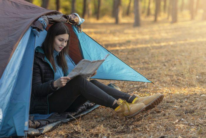 Camping Med Telt og kart
